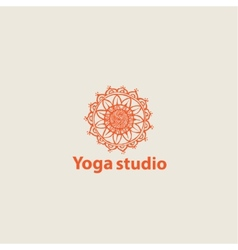 template logo for yoga studios vector image vector image