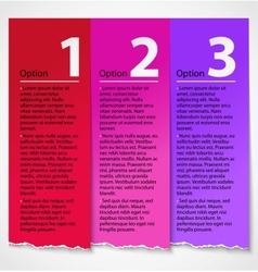 Torn paper progress option label background vector image vector image