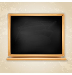 blackboard on grey vector image vector image