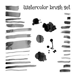 brush set watercolor stroke vector image