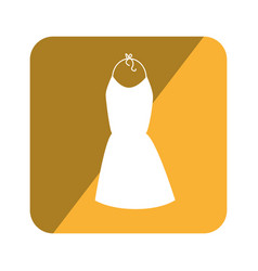 elegant businesswoman dress icon vector image vector image