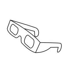 Line 3d glasses to see movie in the cinema vector
