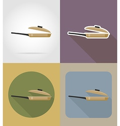 objects for food flat icons 07 vector image vector image