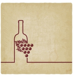 wine menu old background vector image