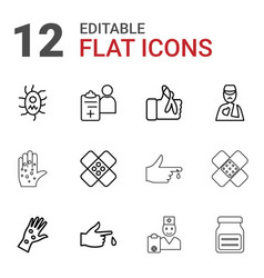 12 pain icons vector