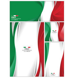 Abstract italy flag background vector