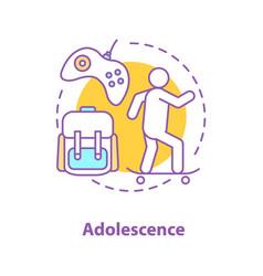 Adolescence activities concept icon vector