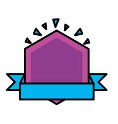 badge ribbon layout vector image