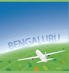 Bangalore flight destination vector