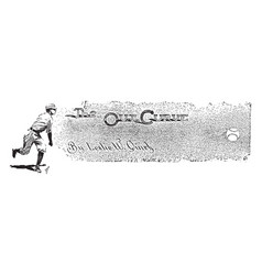 Baseball pitcher vintage vector