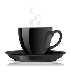 black cofee cup vector image