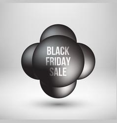 Black friday sale premium bubble badge template vector