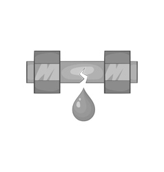 Breakthrough water pipe icon monochrome style vector