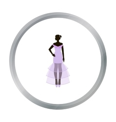 Bride icon in cartoon style isolated on white vector image
