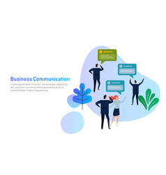 business people group chat communication bubble vector image