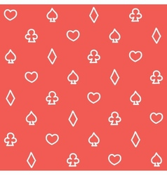 Casino pattern red vector image