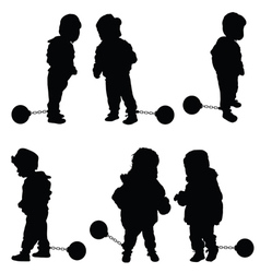 Child with prision ball vector