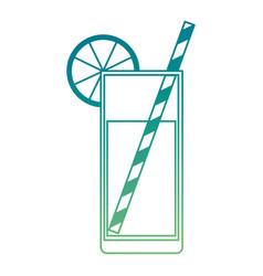 citrus juice fruit cocktail vector image