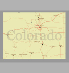 Colorado state map with community assistance and vector