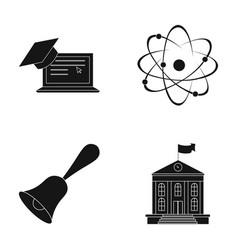Computer cap atom nucleus bell university vector