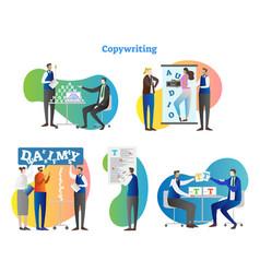 copywriting collection set vector image