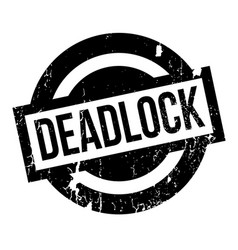Deadlock rubber stamp vector