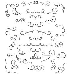 Decorative swirls vector