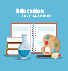 Education easy learning set icons vector