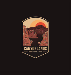 Emblem patch logo canyonlands national park vector