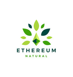 Ethereum natural leaf cryptocurrency blockchain vector