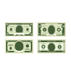Fake dollars banknotes vector