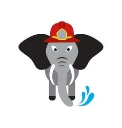 Flat icon on white background elephant cartoon vector