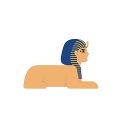 Flat sphinx egypt creature vector