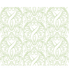 Greenery damascus seamless pattern background vector