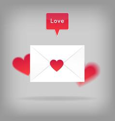 Happy valentine s day envelope vector