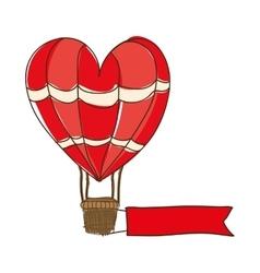 hot air balloon cartoon icon image vector image