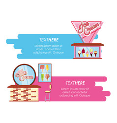 ice cream shop bars styles vector image