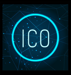 ico digital virtual money financing icon vector image