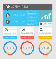 International business infographics vector