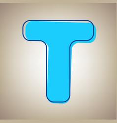 Letter t sign design template element sky vector
