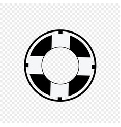 Lifebuoy icon isolated on transparent background vector