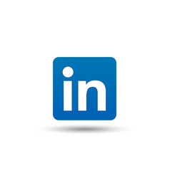 Linkedin logo icon social media symbol business vector