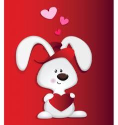 love bunny vector image