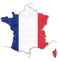 Map of France 1 vector image