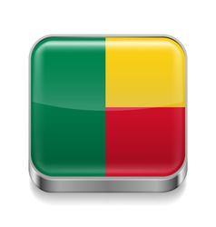 Metal icon of Benin vector image