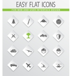 Military and war icons set vector image