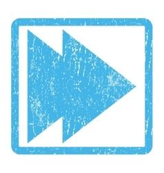 Move Right Icon Rubber Stamp vector