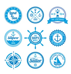 Nautical Badges vector