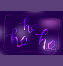 neon ho lettering vector image