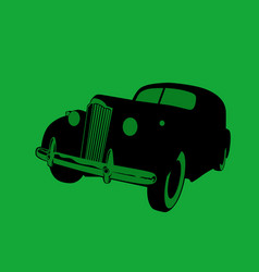 nostalgia old car noir style vector image